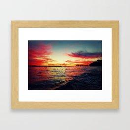 Sunset in Isla Vista Framed Art Print