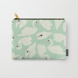 Mint Swan Seamless Pattern 028 Carry-All Pouch