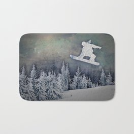 The Snowboarder Bath Mat