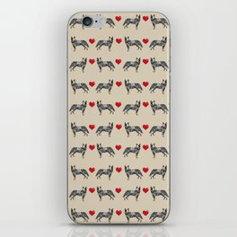 Australian Cattle Dog blue heeler hearts love dog breed gifts for cattle dog owners iPhone Skin