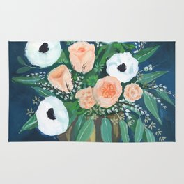 blush and white bouquet Rug