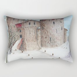 Castell Coch (Red Castle) - Winter Rectangular Pillow
