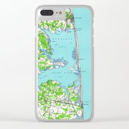 Vintage Rehoboth & Bethany Beach DE Map (1938) Clear iPhone Case
