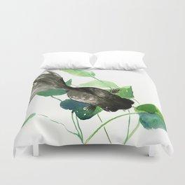 Black Moor Aquarium Fish, KOI Feng SHui Art Duvet Cover