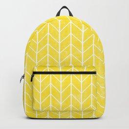 Yellow Herringbone Backpack
