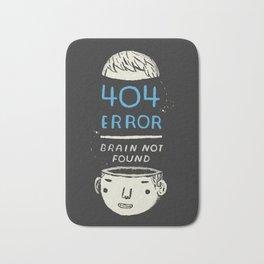 404 error: brain not found! Bath Mat