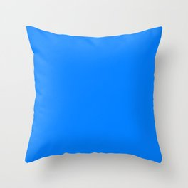 Azure Blue Throw Pillow