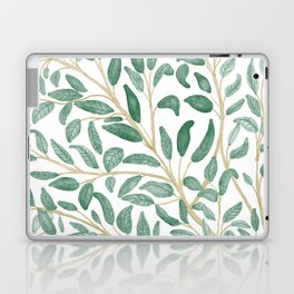 Green Leaf Pattern Laptop & iPad Skin