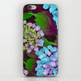 Hydrangea Pink and Blue iPhone Skin
