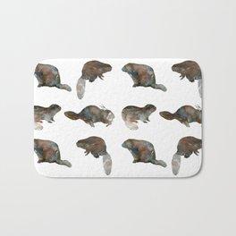 Beaver Pattern Bath Mat