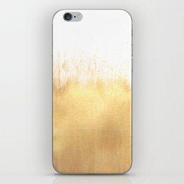 Brushed Gold iPhone Skin