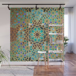 Turquoise Star Wall Mural