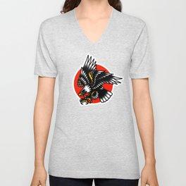 American traditional eagle Unisex V-Neck