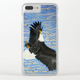 Bald Eagle-3 Clear iPhone Case