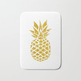 Gold Pineapple Bath Mat