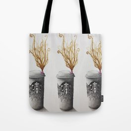 Lipstick Stained Latte Tote Bag