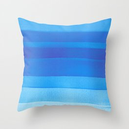 Blue layers abstract Throw Pillow