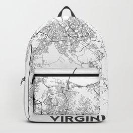 Minimal City Maps - Map Of Virginia Beach, Virginia, United States Backpack
