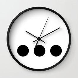 Ellipsis Wall Clock