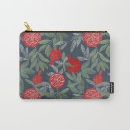 Pomegranate garden on navy Carry-All Pouch