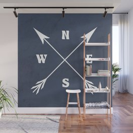 Compass arrows Wall Mural