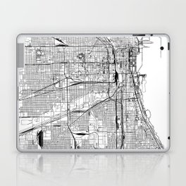 Chicago White Map Laptop & iPad Skin