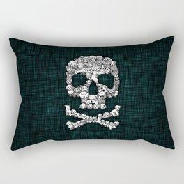 Skull Dogs Halloween Rectangular Pillow