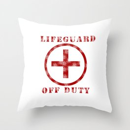 Lifeguard Off Duty Throw Pillow