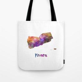 Yemen in watercolor Tote Bag