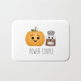 Pumpkin + Spice = Power Couple Bath Mat