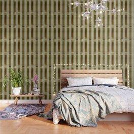 """Burlap Texture Greenery Columns"" Wallpaper"
