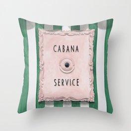 Cabana Service Throw Pillow