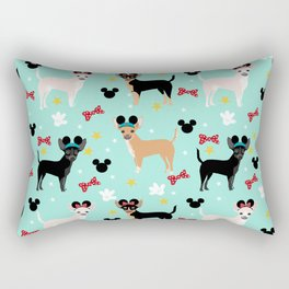 Chihuahua theme park lover dog breed pattern gifts Rectangular Pillow