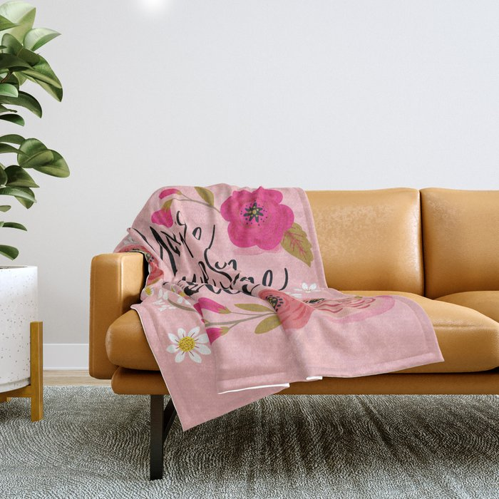 Pretty Sweary: You're Awesome, Keep that Shit Up Throw Blanket
