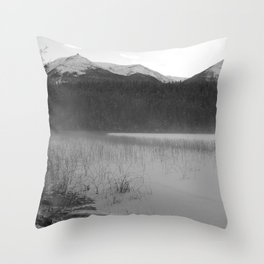 Cabin Lake Throw Pillow