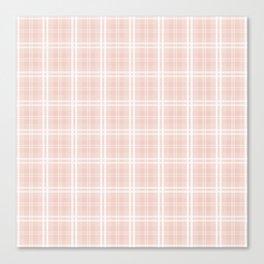 Spring 2017 Designer Color Pale Pink Dogwood Tartan Plaid Check Canvas Print