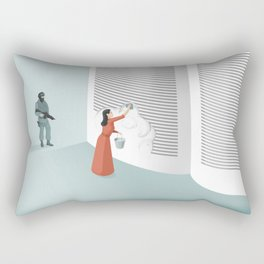 Banned From Literacy Rectangular Pillow