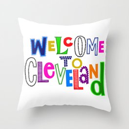 Welcome to Cleveland Throw Pillow