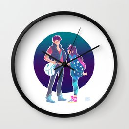 Teenage Mystery Twins Wall Clock