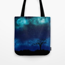 Blue Moon Night Sparkle Tote Bag
