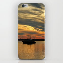 Sunset Over The Water iPhone Skin