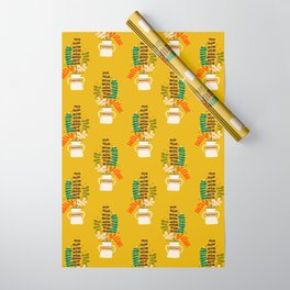 Potted Leaves Wrapping Paper
