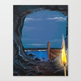 Smugglers Cave Canvas Print
