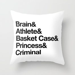 """Breakfast Club Ampersand """"They see us as they want to see us"""" Throw Pillow"""