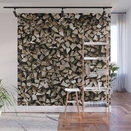 firewood pattern Wall Mural