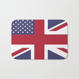 United States and The United Kingdom Flags United Forever Bath Mat