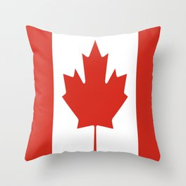 red maple leaf flag of Canada Throw Pillow