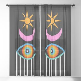 Summer Totem Sheer Curtain