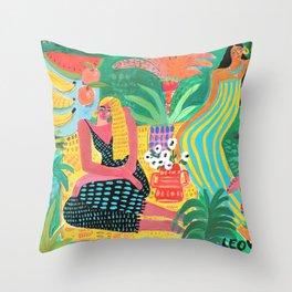 Garden Of Colors Throw Pillow