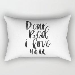 printable wall art, dear bed i love you,funny poster,bedroom sign,bedroom decor,bedroom wall art Rectangular Pillow
